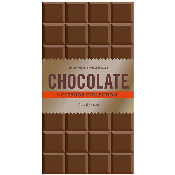 Chronicle Books Chocolate Notebook (30 BRL) ❤ liked on Polyvore featuring home, home decor and stationery