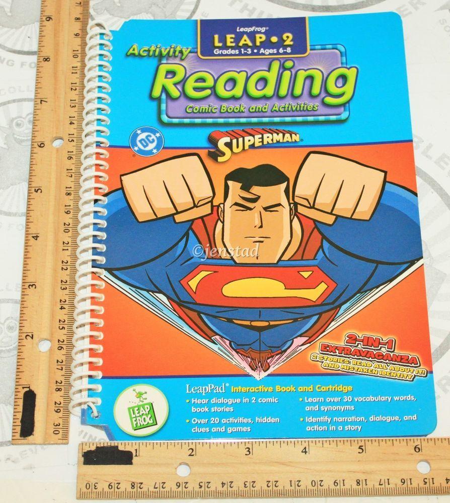 "SUPERMAN LEAP-PAD LEAPFROG ACTIVITY READING DC COMICS SUPERHERO ""BOOK ONLY""  #2 #LeapFrog"