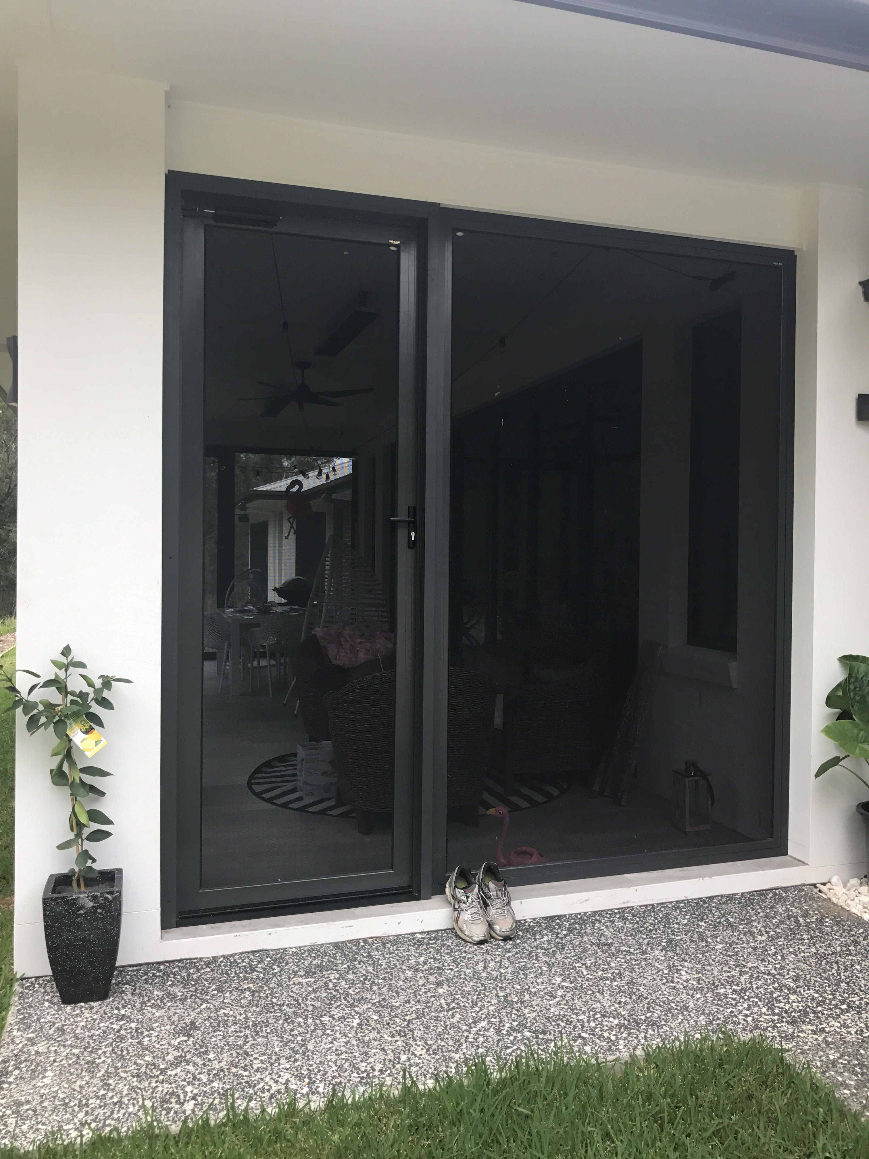 Eating Securely Anyone Standing At 2800 High These Impressive Panels Of Crimsafe Ultimate Series Screening Glass And Aluminium Patio Enclosures Alfresco Area