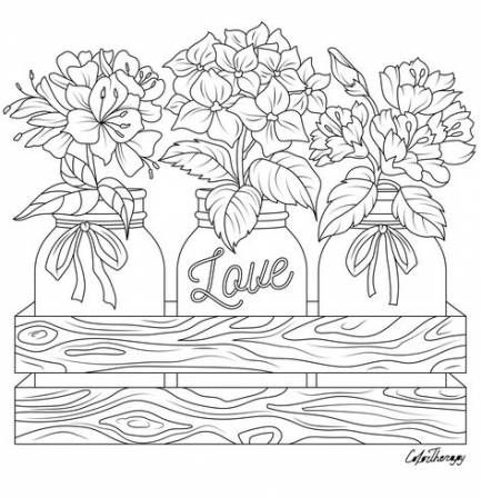 Flowers crafts coloring sheets 63 Super ideas