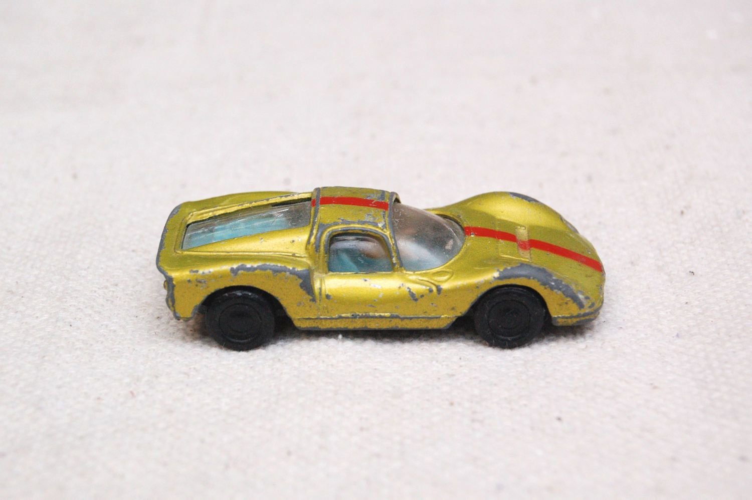 Vintage Mini Marx Uno Ferrari P3 Super Speed Car Made In Hong Kong 1970 S Gold With Red Stripe By Rememberw Vintage Toys For Sale Vintage Toys Classic Toys