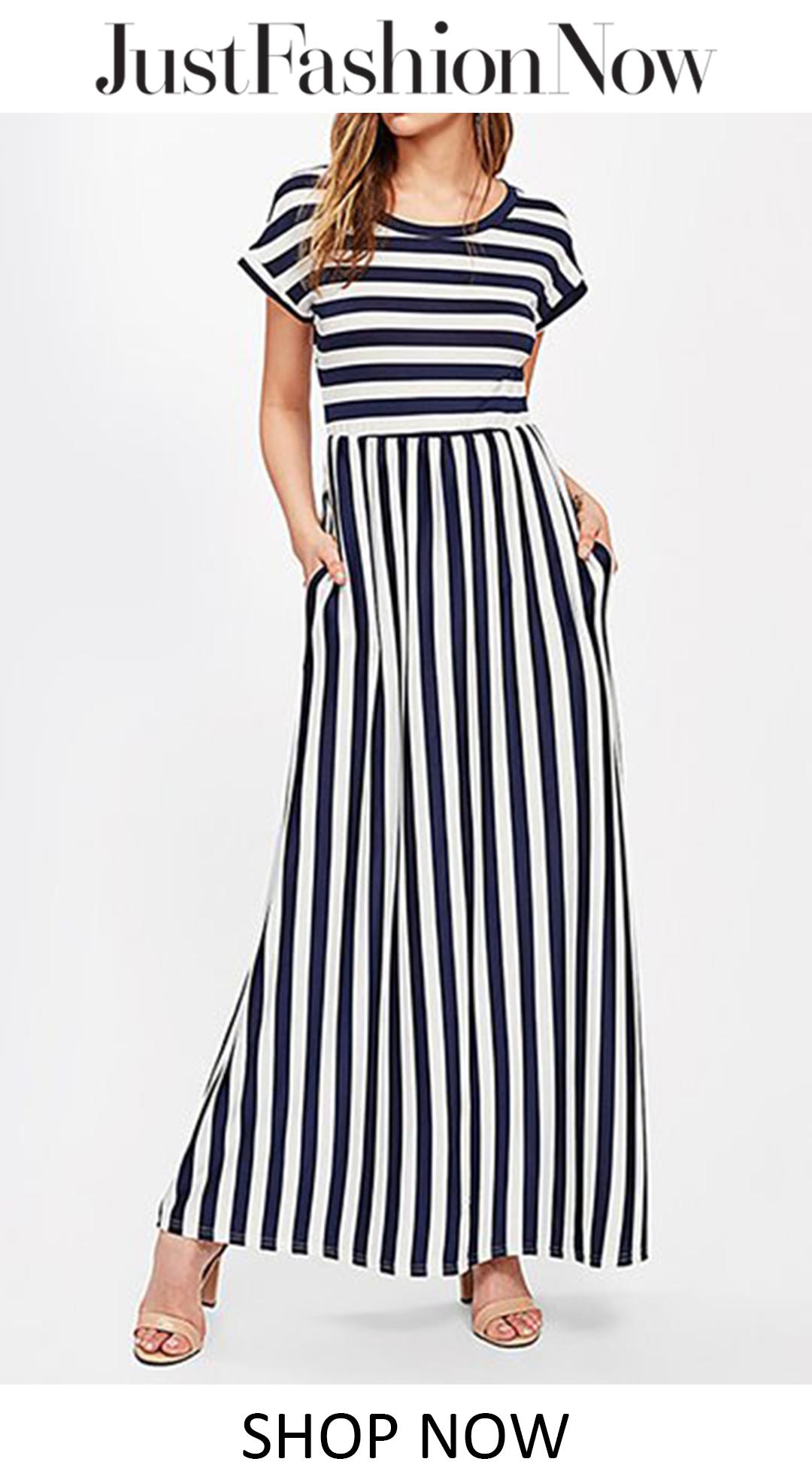 20 59 A Line Women Beach Holiday Short Sleeve Cotton Striped Summer Dress Vestidos Looks Vestido Curto [ 1972 x 1080 Pixel ]