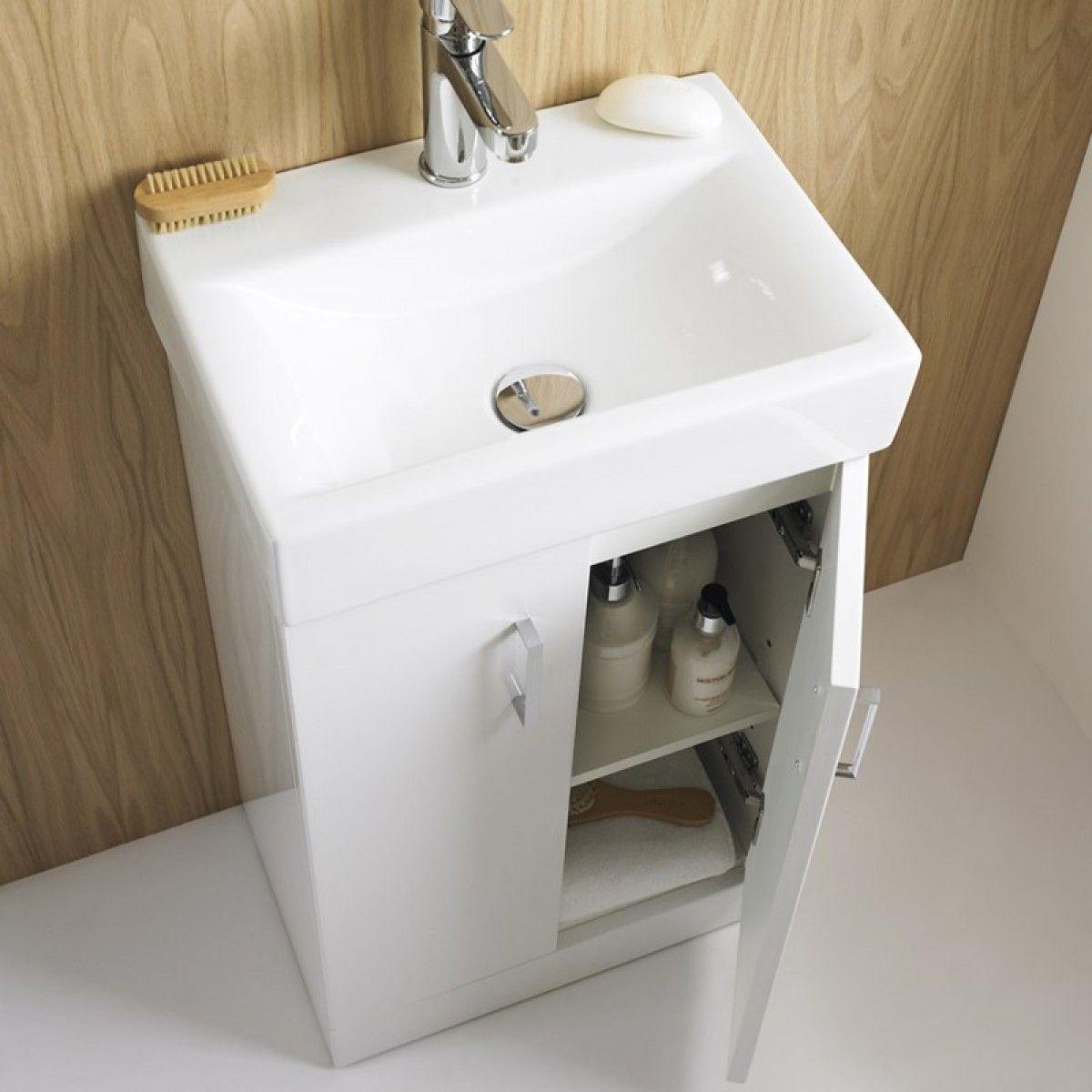 Emily 450mm Floorstanding Gloss White Vanity Unit   BasinJack 450mm Floorstanding Gloss White Vanity Unit   Basin   Vanity  . White Sink Vanity Unit. Home Design Ideas