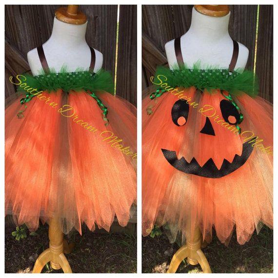 Pumpkin Tutu, Halloween Tutu, Infant tutu, Halloween pumpkin Tutu Dress,Pumpkin…
