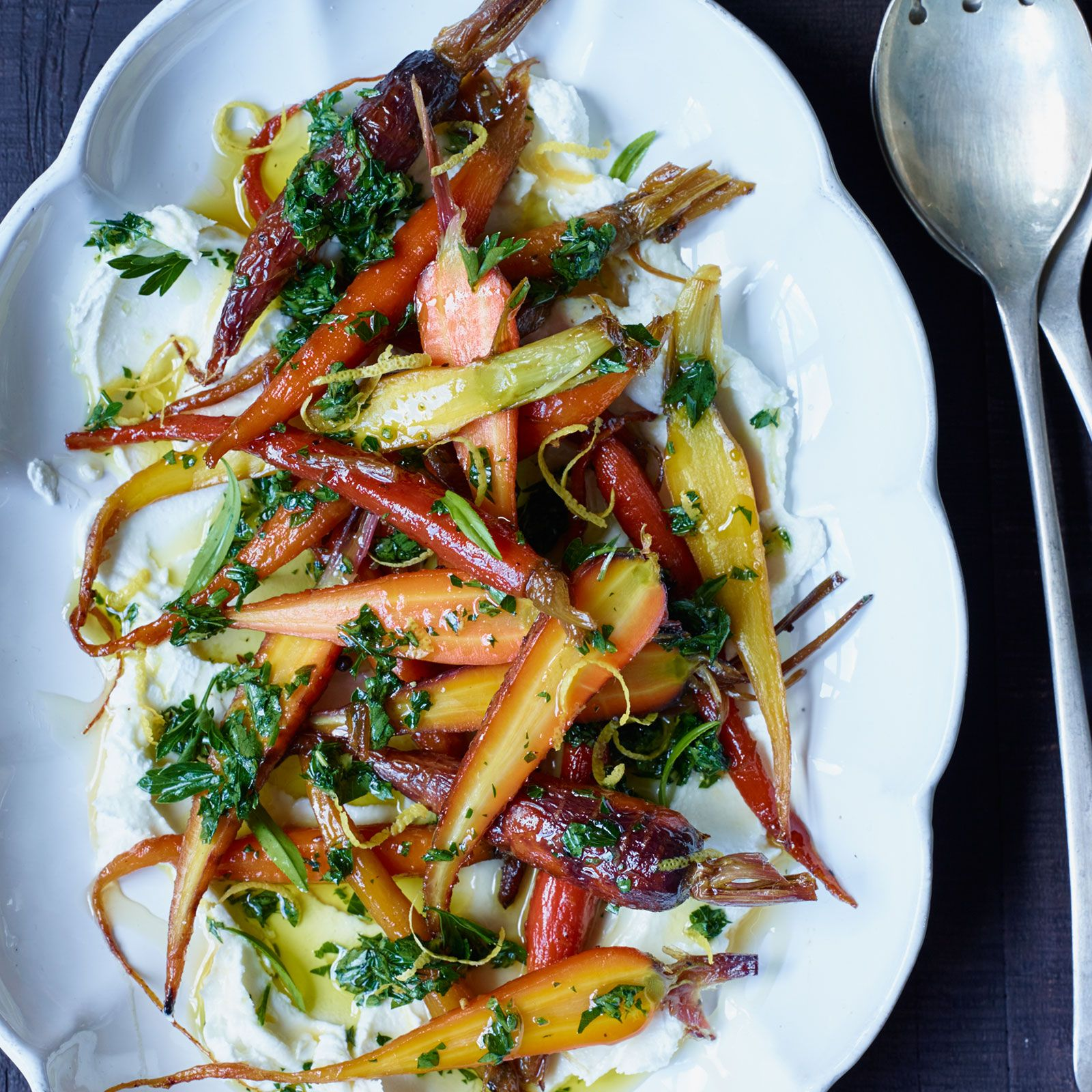 Glazed carrots with goat cheese and honey recipe glazed glazed carrots with goat cheese and honey forumfinder Choice Image