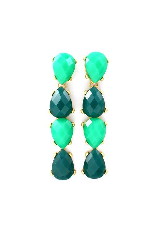 Isabel Teardrop Earrings in Minty Teal