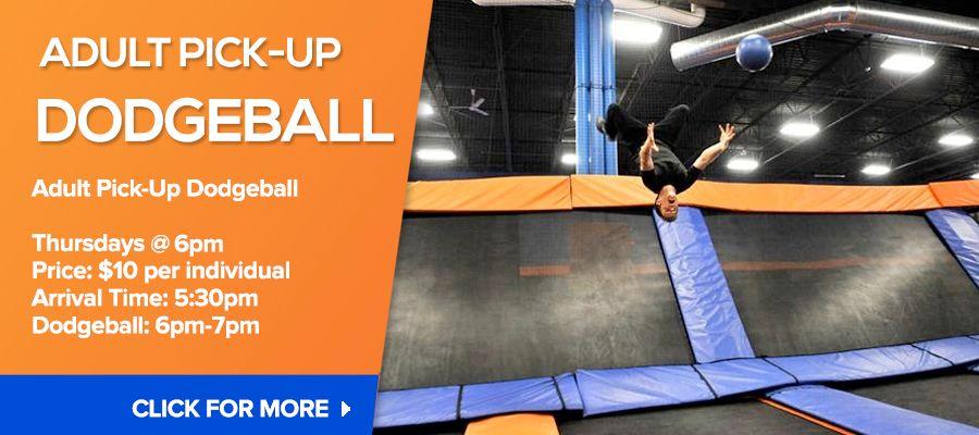 Adult Dodgeball 919.948.4450 Indoor trampoline