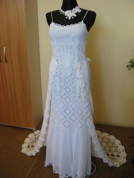 crocheted wedding dress handmade | Crochet Pattern Wedding Dress ...