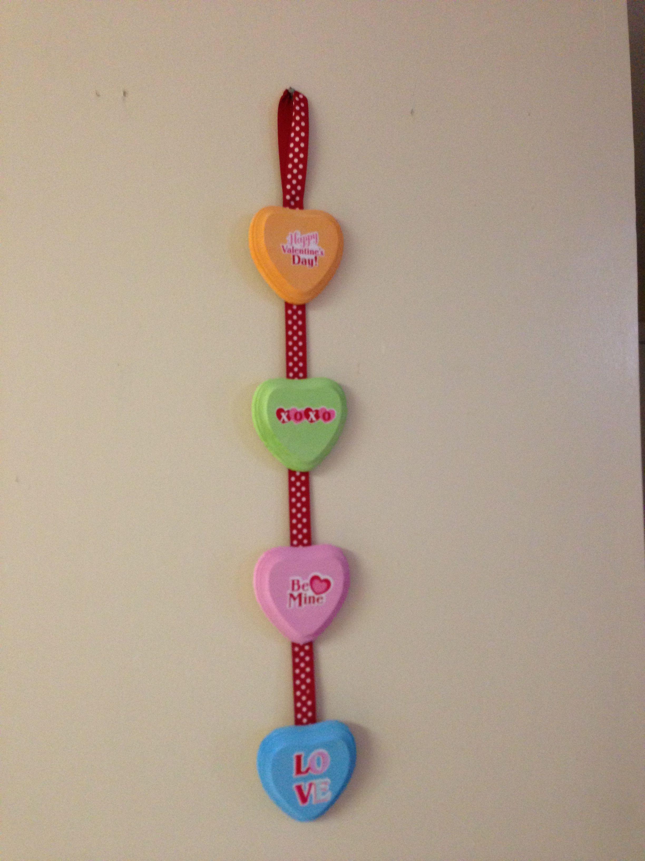 Hobby lobby hearts 80 each ribbon 299 paint i had on