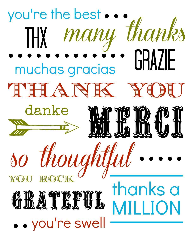 Free Printable Thank You Card – Printable Thank You Note