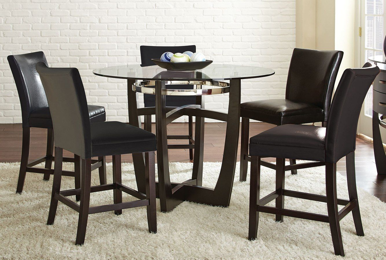 Matinee Counter Height Dining Set W Black Chairs Counter Height