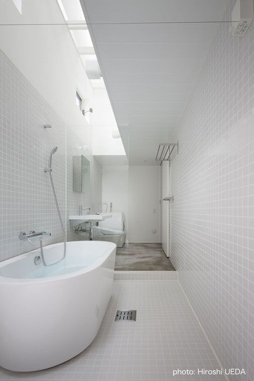 在来工法の浴室 建築家石川淳の住宅デザイン実例と日常報告 バス