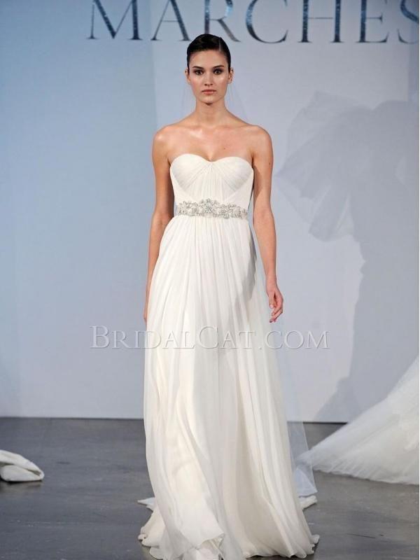 Lang Marchesa Bridal 14 Ärmellos Bodenlang | Preiswerte Brautkleider ...