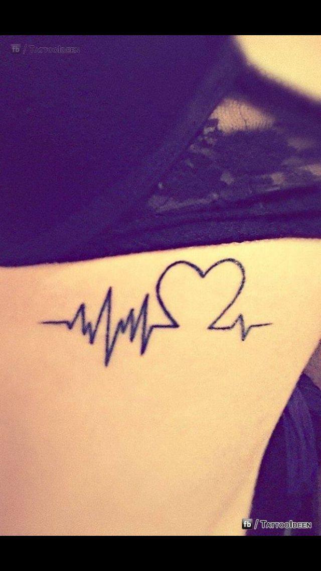 Tatto El Latido Del Corazón Representa El Sentimiento Por La Vida