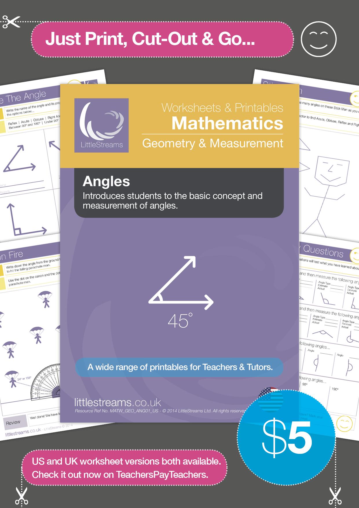 Angles USA version Teaching math, Education math, Middle
