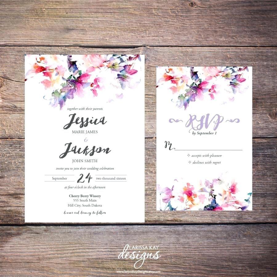Wedding Invitations Diy Template Printable Watercolor Floral ...