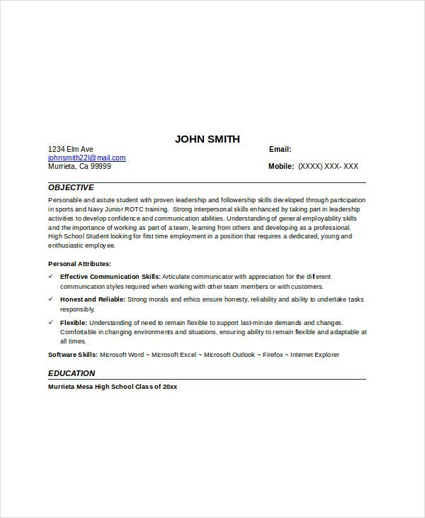 Personal Attributes For Resume 12 Babysitter Resume Templates  Free Printable Word & Pdf  Resume .