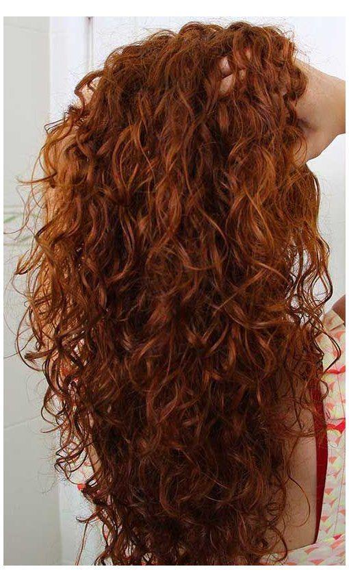 curly auburn hair