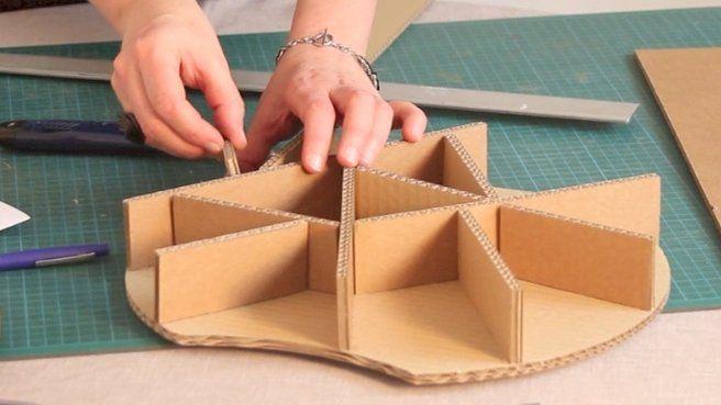 Mettre En Volume Un Meuble En Carton Meuble En Carton Mobilier En Carton Recyclage Carton