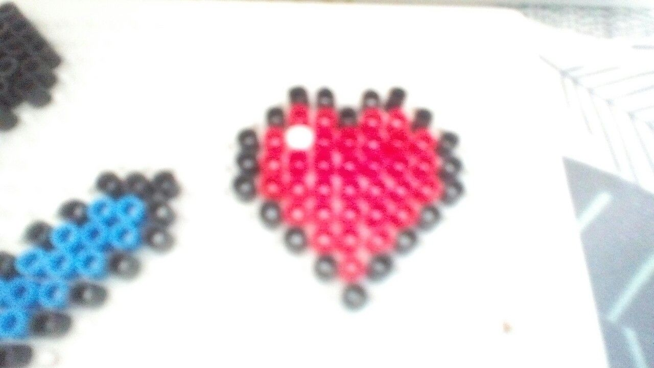 Minecraft full heart perler beads