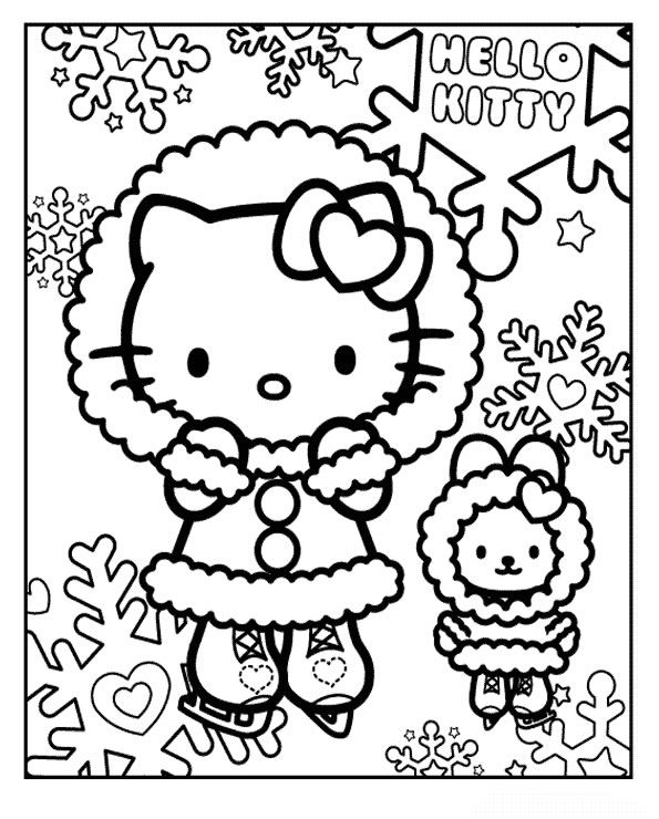Hello Kitty Hello Kitty Coloring Hello Kitty Colouring Pages Hello Kitty Christmas
