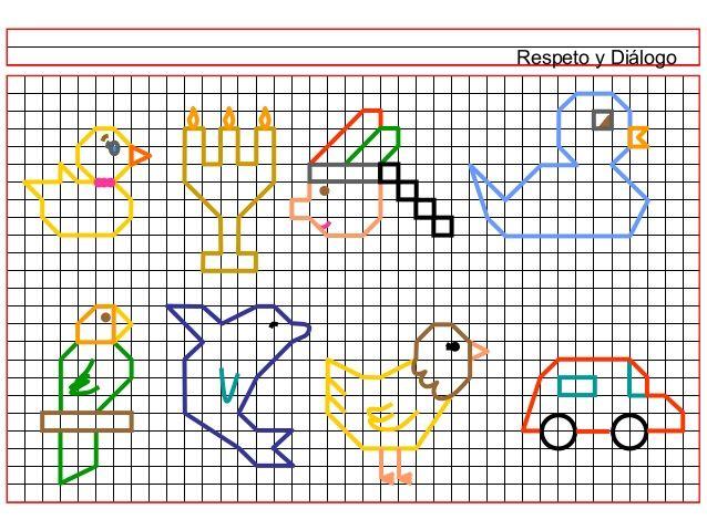 DIBUJOS EN CUADRICULA PARA PINTAR | dibujar en cuadricula ...