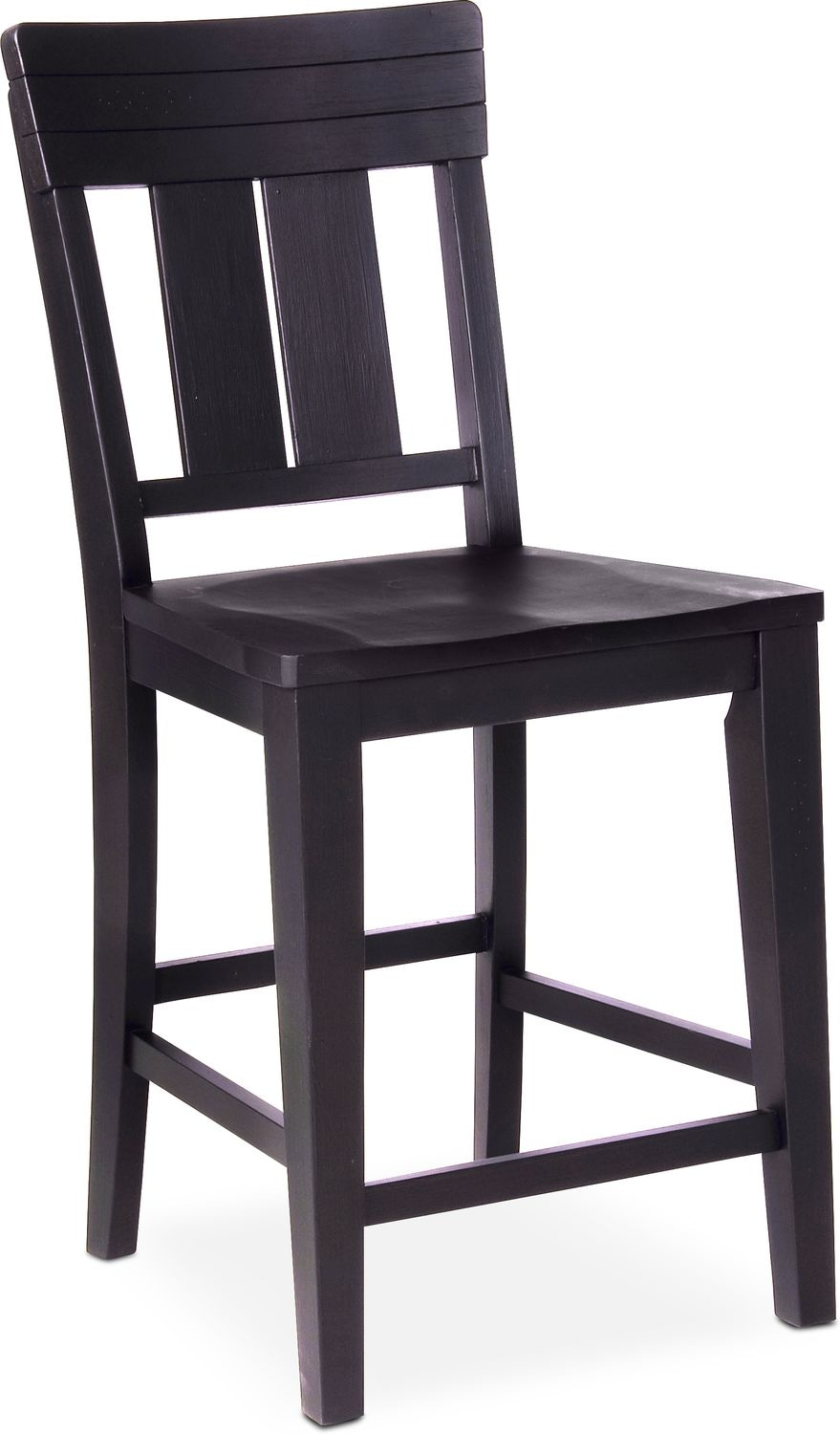 New Haven Counter Height Slat Back Stool Black Value City
