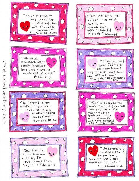 Free Printable Scripture Verse Valentines – Valentine Card Sayings for Kids
