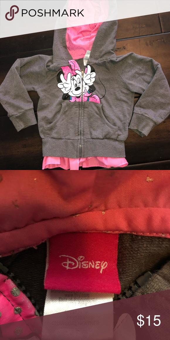 ca39b01b3e3 Disney Minnie Mouse zip up hoodie Disney Minnie Mouse zip up hoodie size  4T. Gently used condition Disney Jackets & Coats
