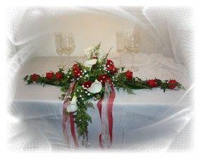 Paargesteck Callas Und Rosen Tischgestecke Hochzeit Hochzeitsdekoration Gestecke