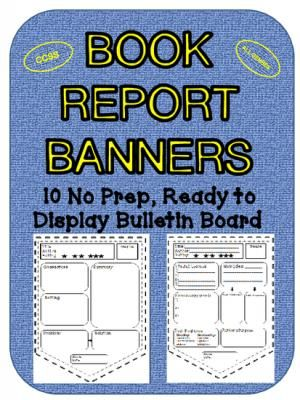 Book Report Banners Ccss Bulletin Board Display From