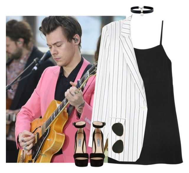 """""""Today Show - 09 May 2017"""" by thisistheend ❤ liked on Polyvore featuring Reformation, TIBI, Majorica, Prada and Ray-Ban"""