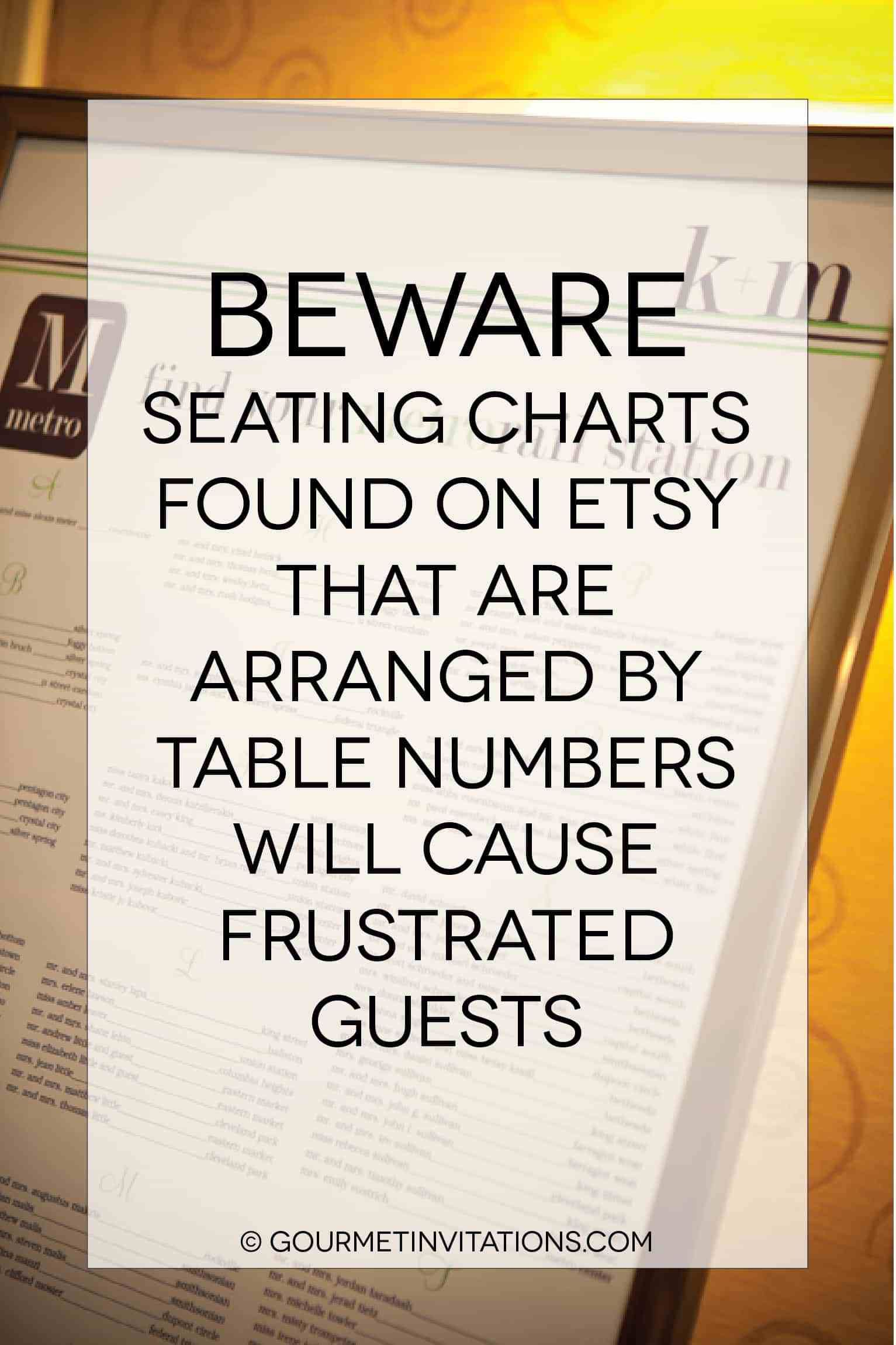 An Etsy Wedding Seating Chart Can Be A Huge Mistake