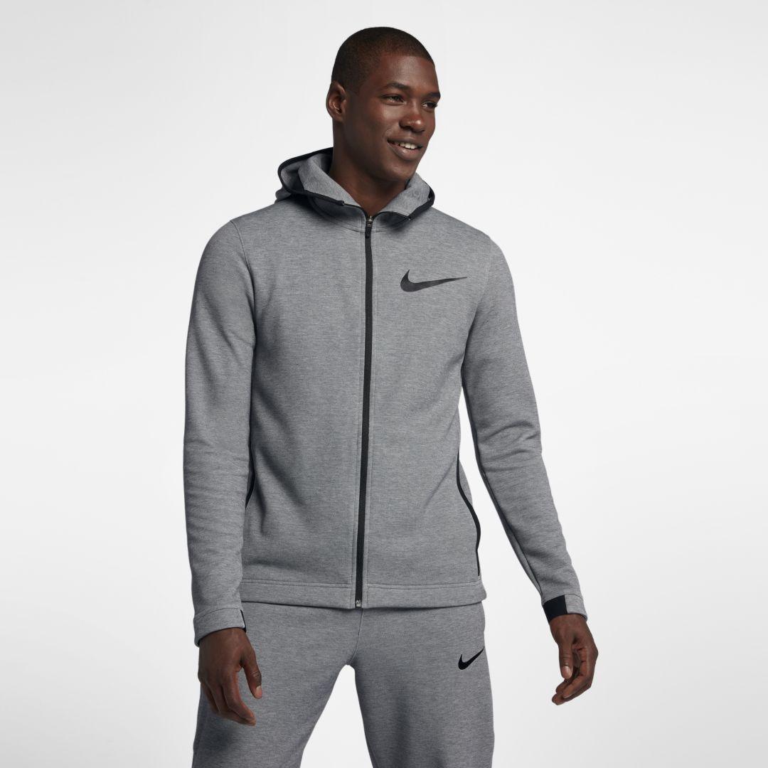 b3ed12853c83 Nike Dri-FIT Showtime Men s Full-Zip Basketball Hoodie Size M (Black  Heather)
