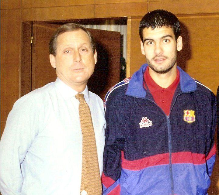 1994. Con Pep Guardiola, cuando era jugador.