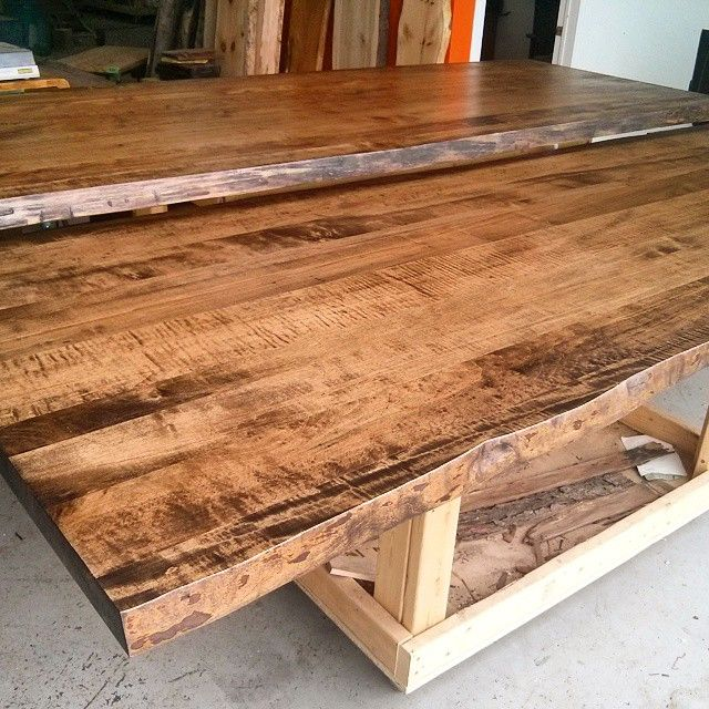 2 Live Edge Ambrosia Maple Table Tops We Made For A Business
