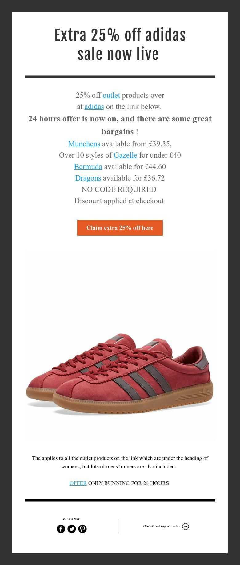 get cheap e790e 73037 Extra 25% off adidas sale now on