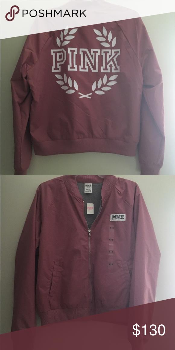 13846651d M) VS PINK Soft Begonia Bomber Jacket VS PINK Soft Begonia Bomber ...