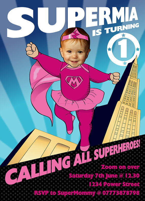 Baby Girl Superhero 1st Birthday Party By SandyFordDesign On Etsy 1500