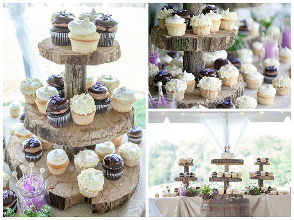 """Utiliza bandejas de madera para servir los postres, bajoplatos de corcho, """"árboles"""" de comida, ¡deja volar tu imaginación! #boda #naturaleza #bodanatural"""