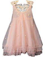 Koly Girl's Dresses Summer Fashio Baby Girls Pure Color Pearl Princess Dress