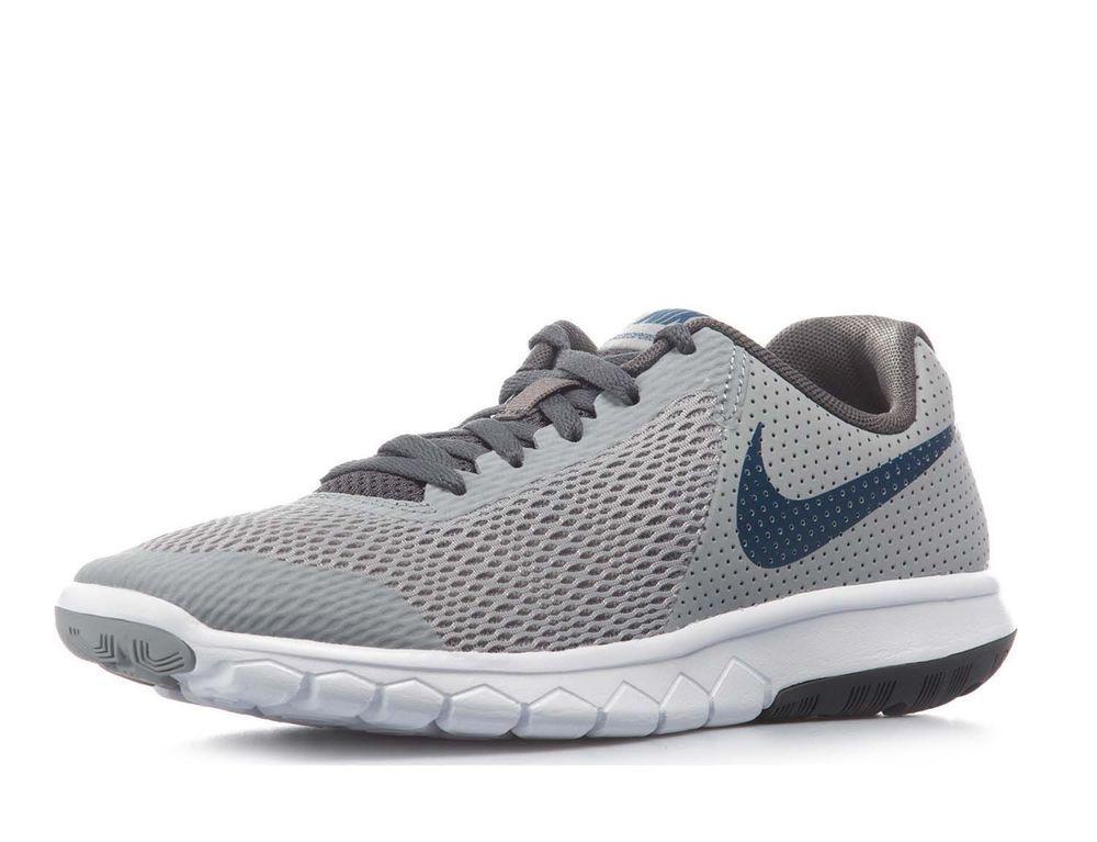 best cheap 455af e21fd eBay  Sponsored Nike Boy s Flex Experience 5 (GS) Running Shoes-Wolf Grey Gym  Blue-6