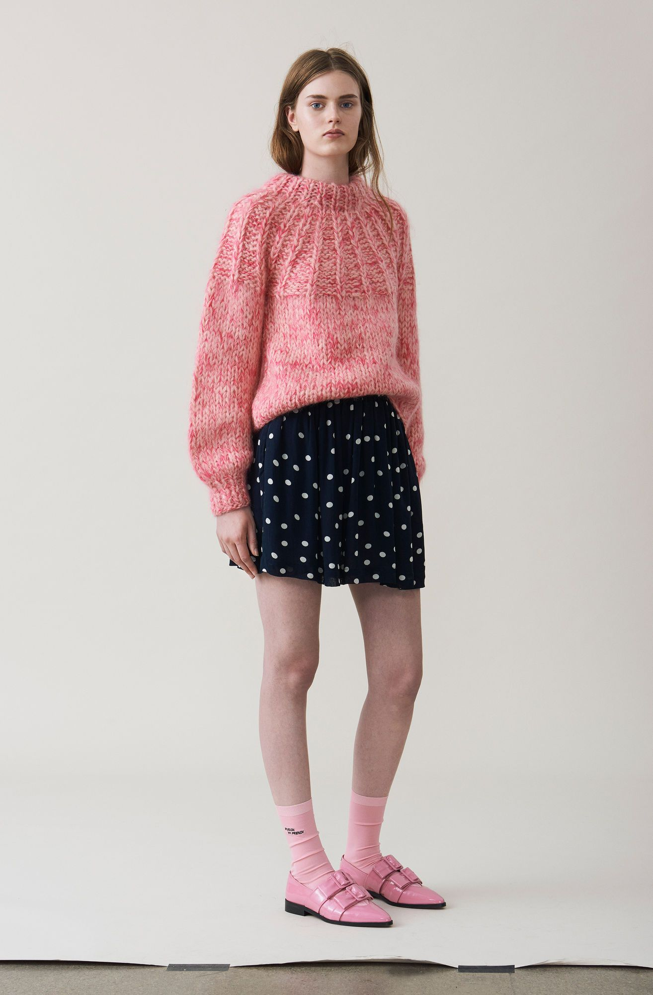 8f401b405b The Julliard Mohair Bow Pullover, Sea Pink | Tricot | Mohair sweater ...