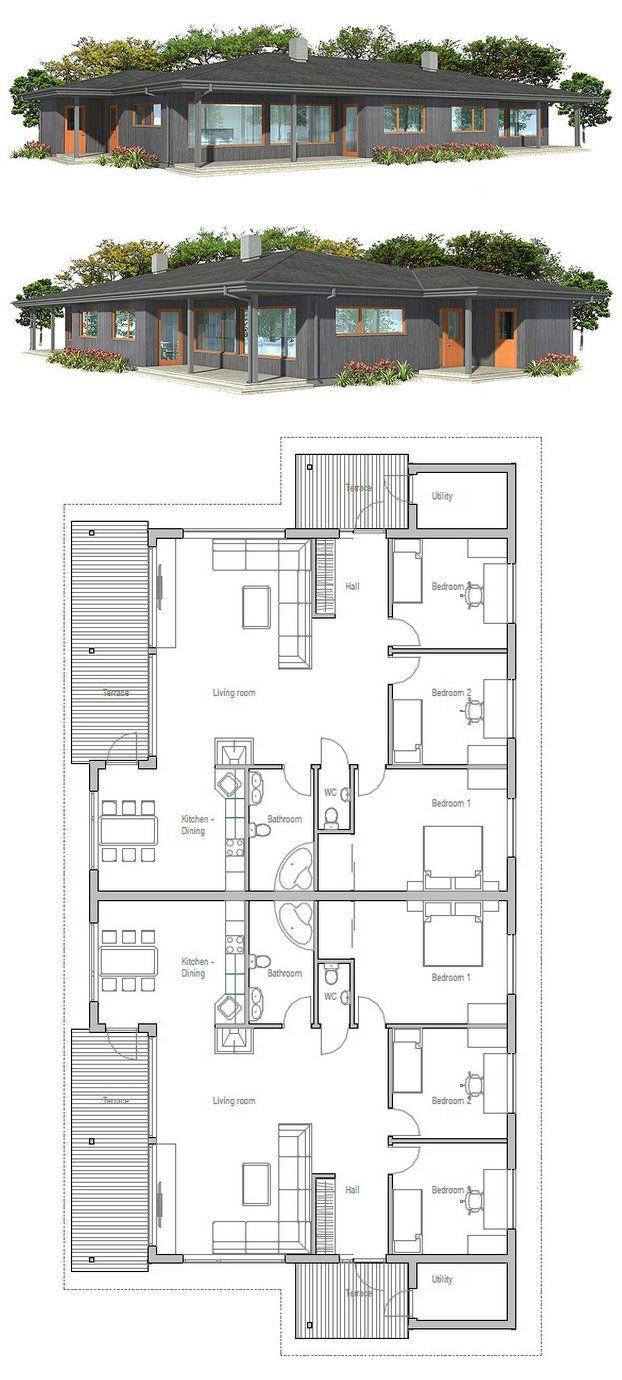 Doppelhaus zweifamilienhaus house plans pinterest for Zweifamilienhaus plan