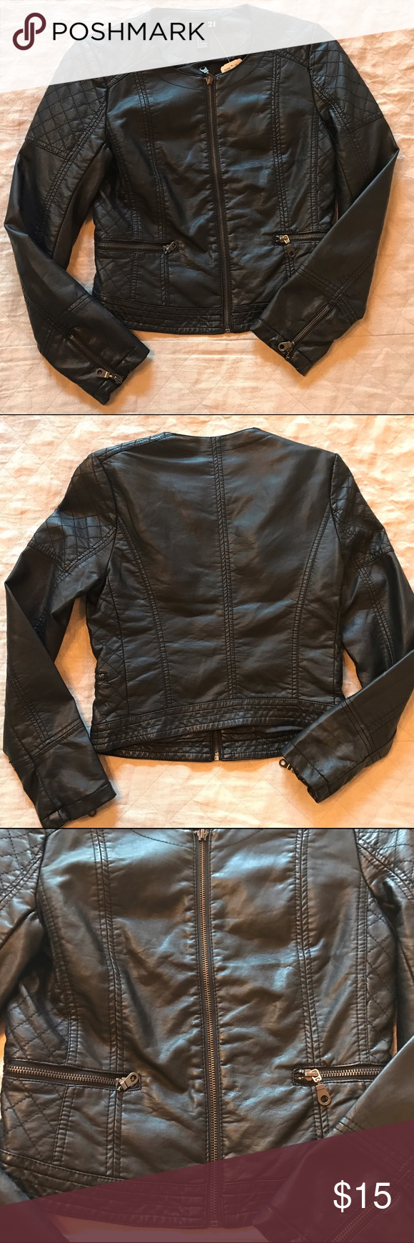 NWT Forever 21 Faux Leather Jacket, small Faux leather