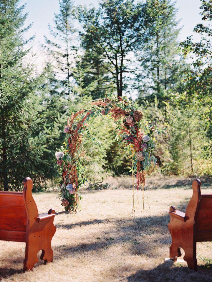 Romantic Red Washington Wedding from Laura Nelson Photography - wedding ceremony idea