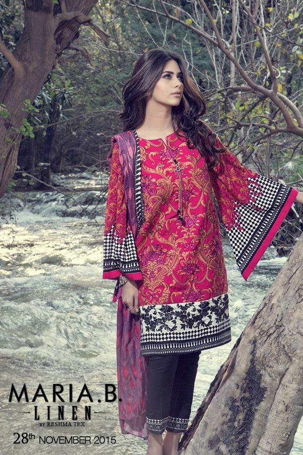 Maria B Winter Luxurious Linen Collection 2015-16
