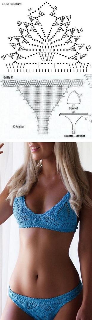 woman7.ru | Patrones | Pinterest | Crochet, Crochet bikini and ...