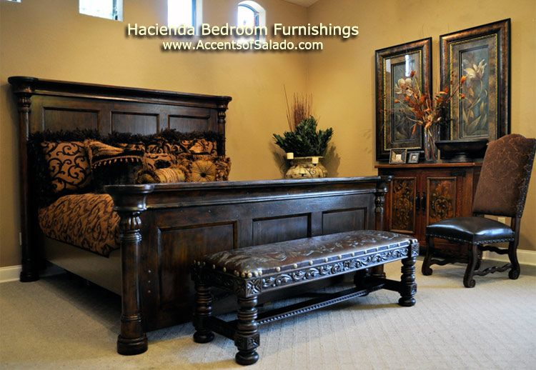 Hacienda furniture spanish hacienda bedroom decorating for Spanish style bedroom