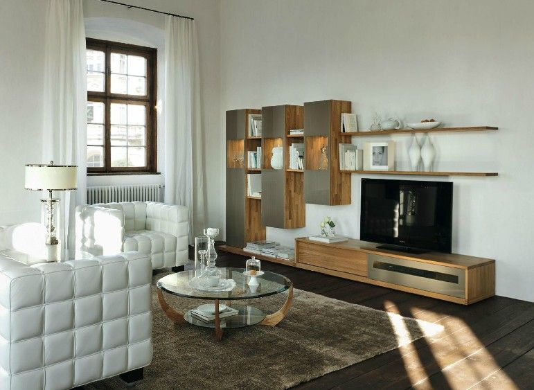 Modern Furniture Made Of Wood Creates Natural Accent: Excellent White Wood  Modern Living Room ~ Part 3
